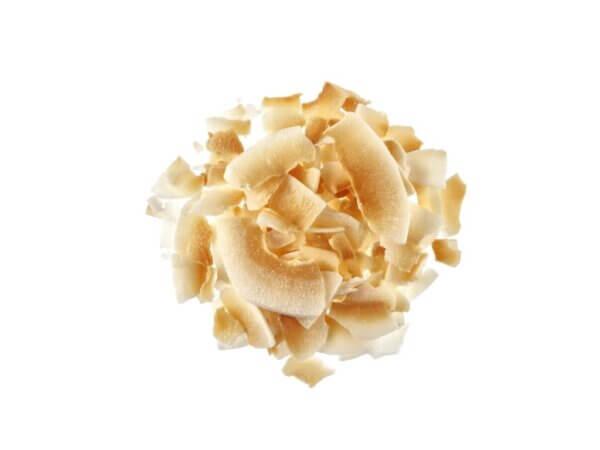Καρύδα αποξηραμένη σε φλύδες χωρίς προσθήκη ζάχαρης ελαφριά καβουρντισμένη