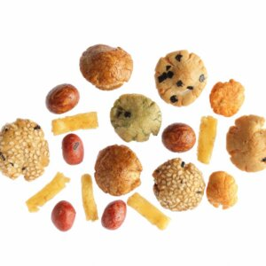 Japanese rice crackers mix
