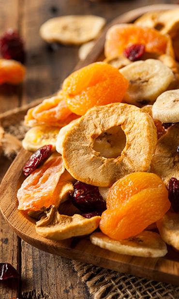 Αποξηραμένα φρούτα χωρίς προσθήκη ζάχαρης